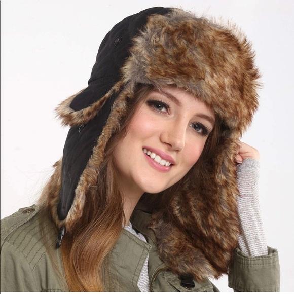 87e329db Tough Headwear Accessories | Clearance Sale Trapper Faux Fur Hat ...